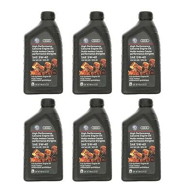 6 Pack Volkswagen Castrol Edge Professional OE Full Synthetic Engine Oil 5W-40