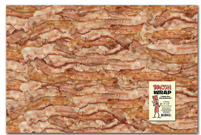 Bacon Gift Wrap Wrapping Paper Two Sheets 20 x 30 by Accoutrements