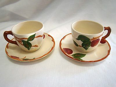 2 Franciscan Cups And Saucers Very Nice Condition -  Oven Proof Mark