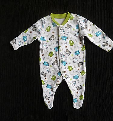 Baby clothes UNISEX BOY GIRL premature/tiny<7lb/3.2k fun dog bone soft babygrow