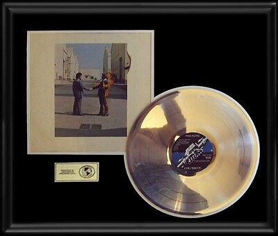 Pink Floyd Wish You Were Here Rare Gold Record Platinum  Disc Album Lp