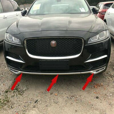 For Jaguar F-pace 2017 2018 Chrome ABS Car Front Bumper Protector Moulding Trims