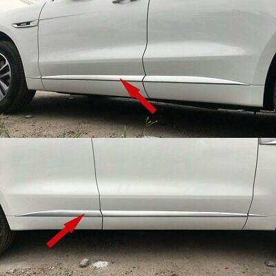 For Jaguar F-pace 2017 2018 Chrome Matte ABS Car Body Side Overlay Cover Trim