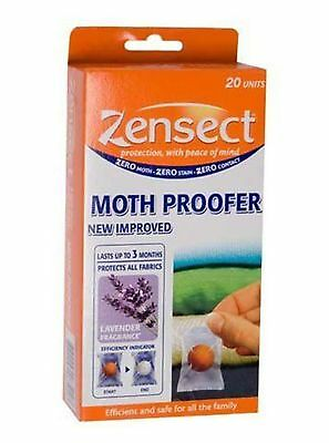 Zensect Moth Proofer REPELLENT Balls with Lavender WITH INDICATOR 20 of Pack