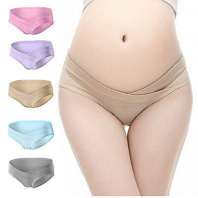 PIDAY Women's Under the Bump Cotton Maternity Hipsters Panties Multi Pack NEW