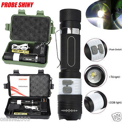 Rechargeable 6000LM CREE XML T6 LED Flashlight Torch Lamp USB 18650 Charger LOT