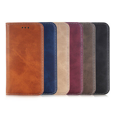 Luxury PU Leather Wallet Card Holde Flip Cover Stand Case For Samsung
