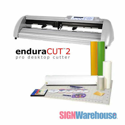 "28"" Vinyl Cutter Plotter EnduraCUT 2 Decal Bundle Machine Kit - SignWarehouse"