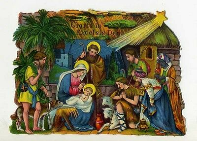 Gloria In Excelsis Deo Presepe Cromolito Made In Germany (2)