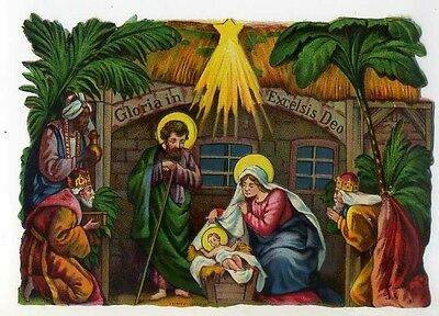Gloria In Excelsis Deo Presepe Cromolito Made In Germany (4)