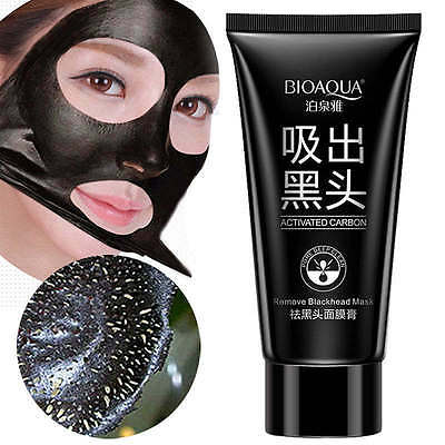Masque Anti Acne Points Noirs Charcoal Boue Black Mask Shills Soin Peau Peel Off