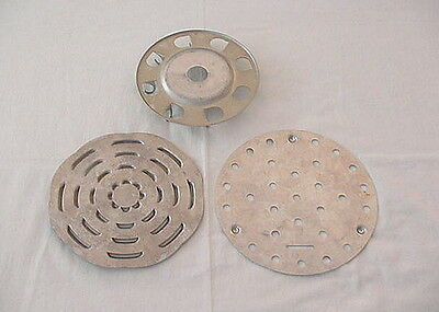Lot of 3 Vintage Aluminum Trivets for Inside Cast Iron Pots