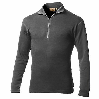 Minus33 Merino Wool Isolation Midweight 1/4 Zip Top (Charcoal)