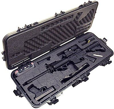 Case Club Pre-Made Waterproof AR15 Rifle Case With Silica Gel and Accessory Box