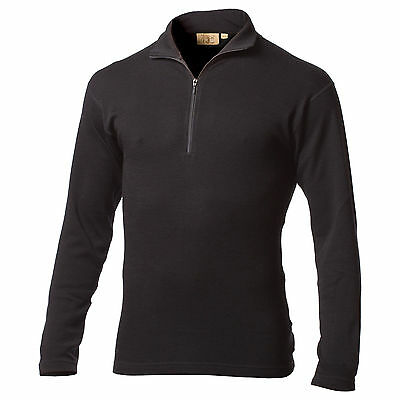 Minus33 Merino Wool Isolation Midweight 1/4 Zip Top (Black)