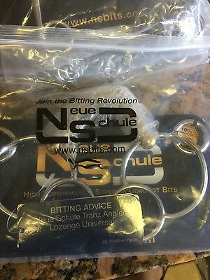"Neue Schule Tranz Angled Lozenge Universal Ring Snaffle 5 1/4"" NEW!!"