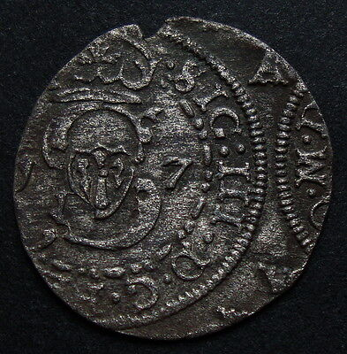 Lithuania. Very Interesting Silver Solidus Sigismund Iii Waza 1617