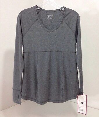 BeMaternity BY INGRID & ISABEL L/S  V NECK TEE HEATHER MARL MEDIUM NWT $30