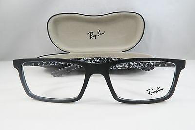 70a518b19a Ray-Ban RB 8901 5263 Black Carbon Fiber New Authentic Eyeglasses 55mm w Case