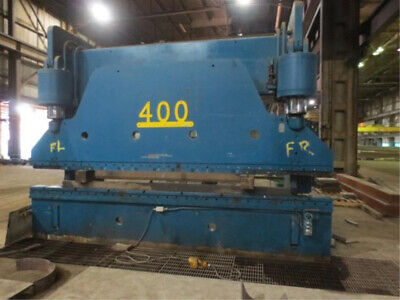 400 Ton x 16' Cincinnati 400H x 12 Hydraulic Press Brake Metal Plate Bender