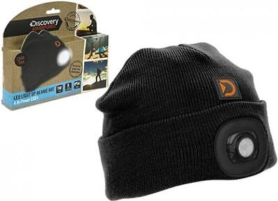 Discovery Adventures Summit LED Light Beanie Hat  Head Torch  Detachable Light