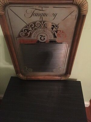 "Rare Vtg Tanqueray Gin Advertising Mirror 20""x14 1/2"""