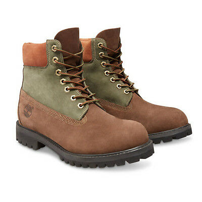 Timberland Men's Boot 6 Inch Classic Premium A135L Brown Tan Olive Green