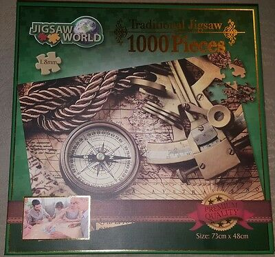 Traditional Jigsaw 1000 pieces TRADE MAP PUZZLE
