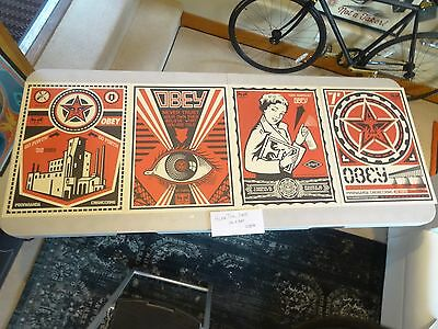 NEW LOT OF 4 2009 Obey Giant X LEVIS Shepard Fairey STREET Art Print RARE -KAWS