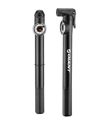 Giant Control Mini 1+ MTB / Hybrid Bike Pump - 120 PSI - Black