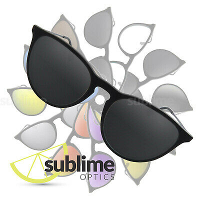 90d4407ec1 POLARIZED Black (Dark Grey) Replacement Lenses for Ray Ban Erika RB4171 ~ Stealth