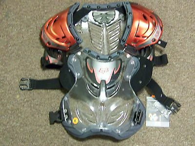 FOX Motocross Chest Protector Deflector Red Chrome - Large - New Wtih Tags