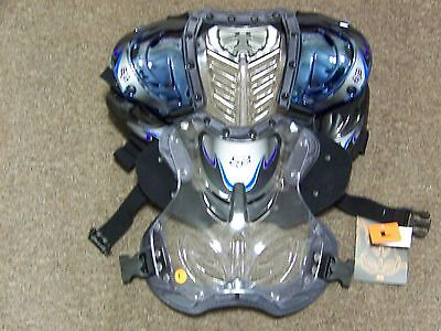 FOX Motocross Chest Protector Deflector Blue Chrome - Large - New Wtih Tags
