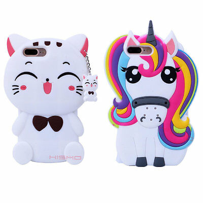 For Samsung Galaxy Phones 3D Cartoon Soft Silicone Rubber Cute Back Case Cover
