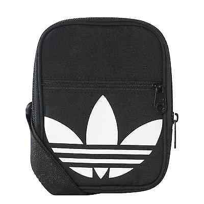 5a2259621be Adidas Originals Trefoil Festival Bag Unisex Accessories Black Travel  AJ8991 New
