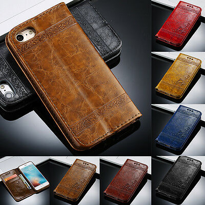Luxury PU Leather Magnetic Flip Stand Wallet Case Cover for iPhone 5 6s 7 7 Plus