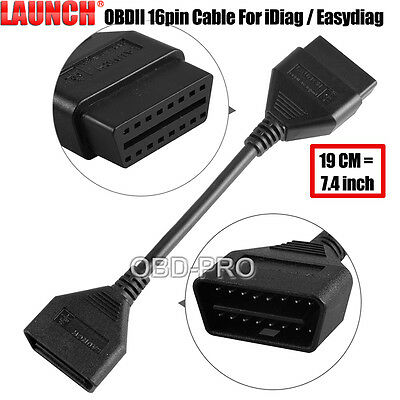 Launch 16Pin OBD2 Extension Cable for X431 IDIAG/5C/V/GOLO Extend OBDII Cable