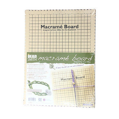 BeadSmith Macrame Board Tool for Easy Cord Management with Notches
