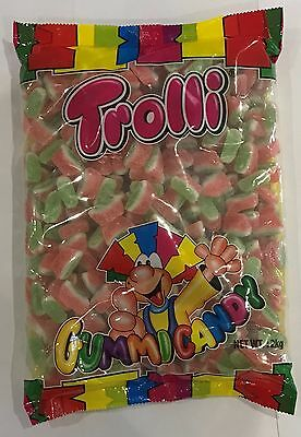 905933 2kg BAG OF TROLLI GUMMI CANDY - WATERMELON SLICES - EXCELLENT VALUE!