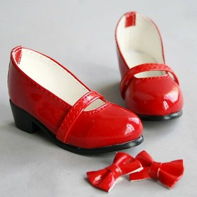 [wamami] 122# 1/3 Red Cute Synthetic Leather Shoes For DZ SD AOD BJD Dollfie