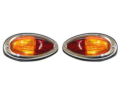Porsche 356A 356B 356C 1957-65  Coppia Fanali Fari Posteriori Tail Light Set