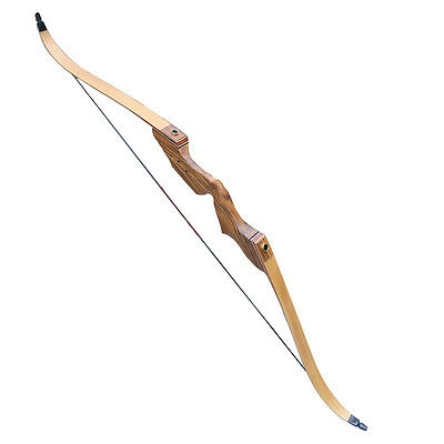 """60"""" Archery Bow Hunting Bow Recurve Longbow Take Down Wooden Riser Limbs"""