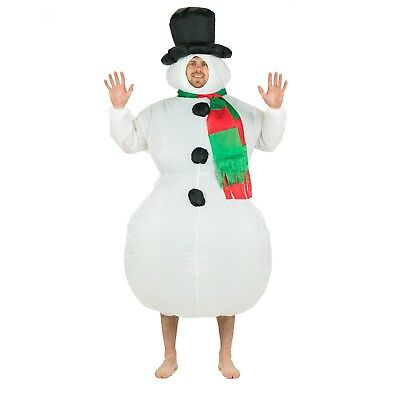 Adult Funny Inflatable Snowman Fancy Dress Costume Outfit Suit Christmas Party