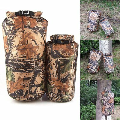 CAMOUFLAGE Camping HUNTING Military DRY STORAGE BAG WATERPROOF SACK POUCH 8L/15L