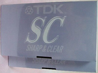Brand New Sealed 2pc Video Tapes Blank VHS Tapes - TDK-SC - 3 Hour - PAL / SECAM