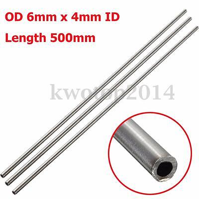 1PC 304 Stainless Steel Capillary Tube Pipe OD 6mm x 4mm ID,Length 500mm 20""