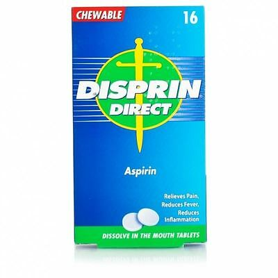 Disprin Direct Aspirin 16 Chewable Tablets 1 2 3 6 Packs