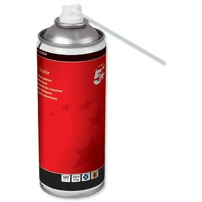 Compressed Gas Air Duster Can General Purpose Cleaning 400ml HFC Free 5 Star