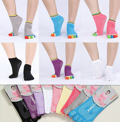 HOT 2016 Full Toe Ankle Pilates Yoga Dance Martial Arts Non Slip Exercise Socks