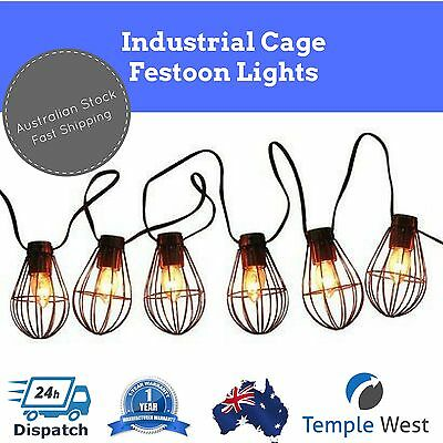 NEW 2m Solar Powered LED Cage String Festoon Lights Outdoor Wedding Party